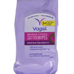 VAGISIL ANTI-ITCH MED 20 WIPES