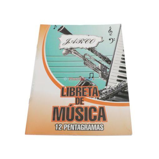 JARCO LIBRETA MUSICA 12 PENTAG
