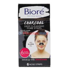 BIORE CHARCOAL PORE STRIPS 6ct