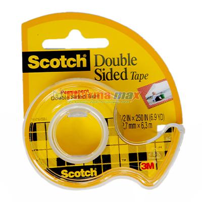 SCOTCH DBL SIDE TAPE 1/2''x250