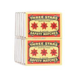 THREE STARS SAFETY MATCHE 10ct