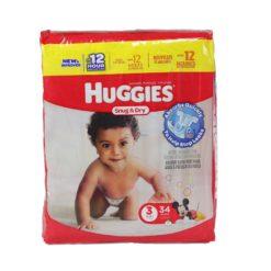HUGGIES SNUG & DRY #3 34ct