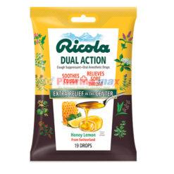 Ricola Dual Action Honey Lemon 19 Drops