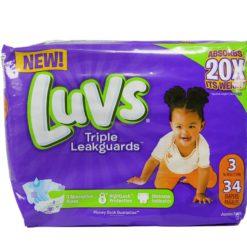 LUVS ULTRA LEAKGUARDS #3 34ct