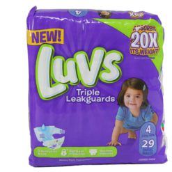LUVS ULTRA LEAKGUARDS #4 29ct