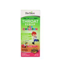 HERBION THROAT SYRUP CHILD 5oz