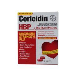 CORICIDIN HBP MAX FLU 20 TAB