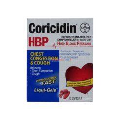 CORICIDIN HBP CHEST&COUGH 20ct