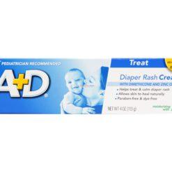 A+D DIAPER RASH ALOE CREAM 4oz
