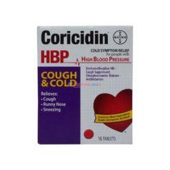 CORICIDIN HBP COUG&COLD 16 TAB