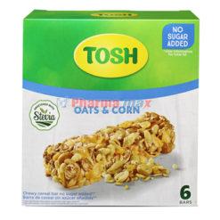 Tosh Oats & Corn Bar Chewy Cereal Bar Sugar Free 6pk