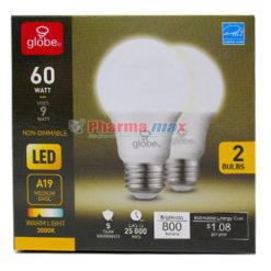 Globe Led Bulb 60watts 2pcs
