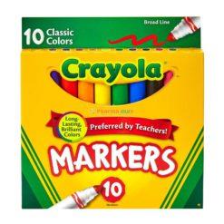 CRAYOLA MARKERS BROAD CLAS10ct