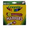 CRAYOLA MARKERS FINE LINE 10ct