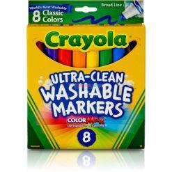 CRAYOLA WASHABLE MARKERS 8ct