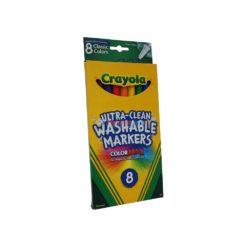 CRAYOLA WASH/MARKERS FINE 8ct