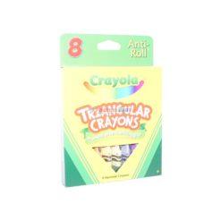 CRAYOLA TRIANGULAR CRAYONS 8ct
