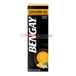 Bengay Lidocaine 4% Tropical Analgesic Cream Ginger Citrus Scent 3.0oz