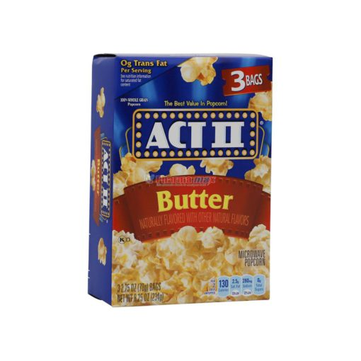 ACT II POPCORN BUTTER 3/78g