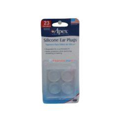 APEX SILICONE EAR PLUGS 4ct
