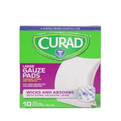 "CURAD GAUZE PADS 10/4""X4"""