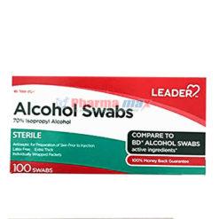 Leader Alcohol Swabs 100ct