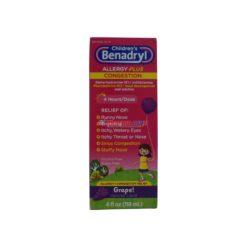 BENADRYL CHILD A/SINUS GRP 4oz