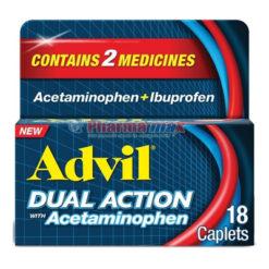Advil Dual Action 18caps