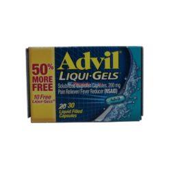 ADVIL LIQUID GELS 20+10 FREE