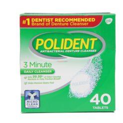POLIDENT 3 MIN DENT CLN 40 TAB