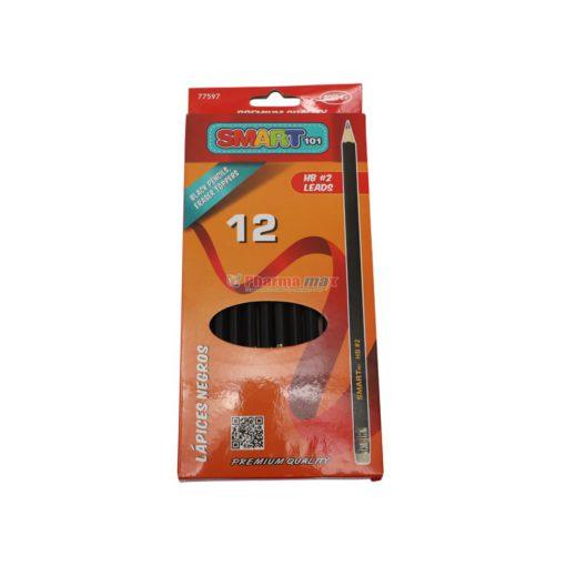 SMART BLACK PENCILS HB#2 12pk
