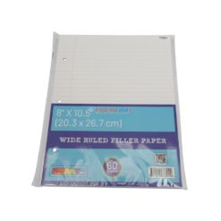 SMART WIDE RULED PAPER 60ct