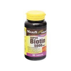 MASON BIOTIN 5000mcg 60 TAB