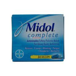 MIDOL COMPLETE 24 GELCAPS