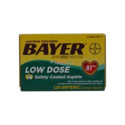 BAYER LOW DOSE 81mg 120 TAB