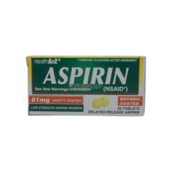 HEALTH ASPIRIN 81mg 50 TABS