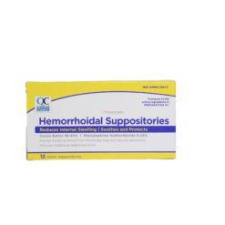 QC HEMORRHOIDAL 12 SUPPOSITO