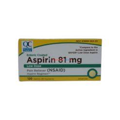 QC ASPIRIN L-DOSE 81mg 120 TAB
