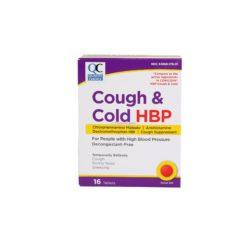 QC COUGH & COLD HBP 16 TABLETS