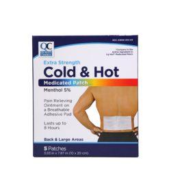 QC COLD&HOT MEDICAT PATCH 5ct