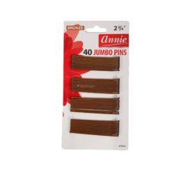 ANNIE JUMBO PINS BROWN 40pcs