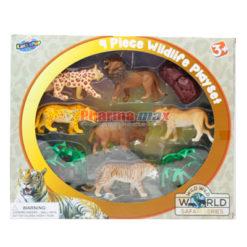 Lollipop Wild Animal Set 9Pc