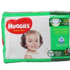 HUGGIES ACTIVE CONV XXG/5 14ct