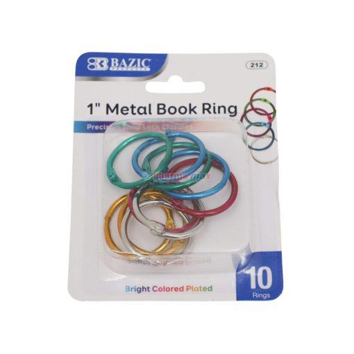 "BAZIC BOOK RING 1"" 10ct"