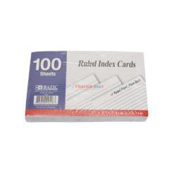 BAZIC INDEX CARD R WHT 100/3x5