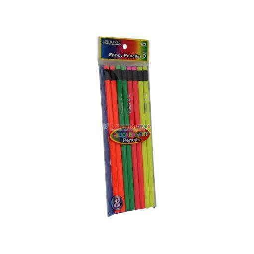 BAZIC PENCILS #2 FLUORESC 8pk