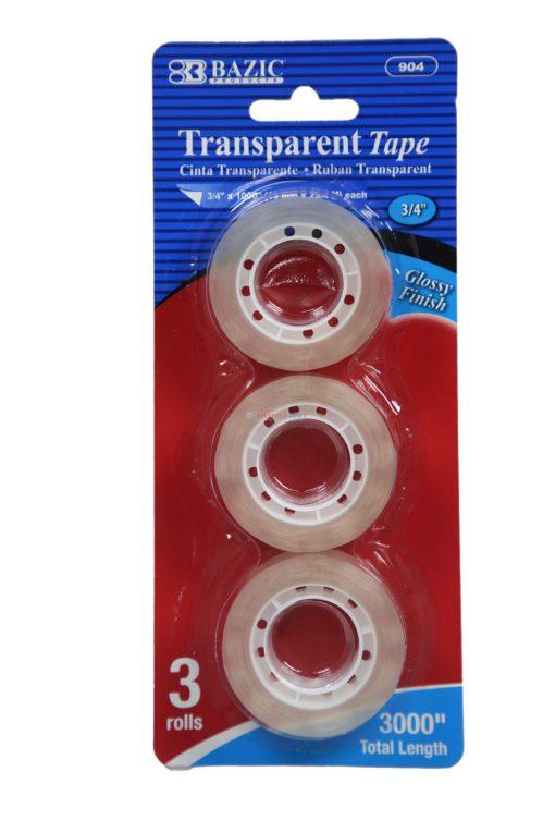 BAZIC TRANSPARENT TAPE 3 ROLLS