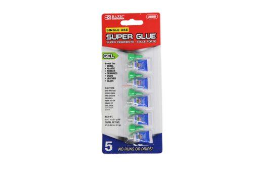 BAZIC SUPER GLUE GEL 0.5g/5pk