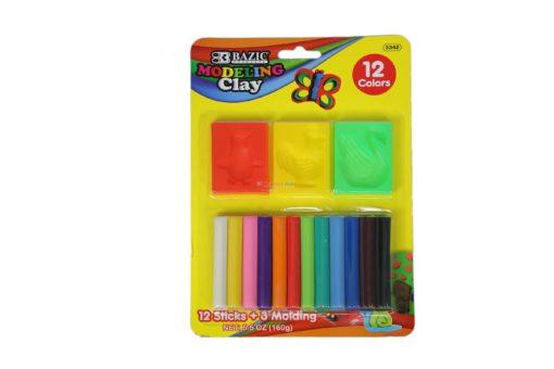BAZIC MODELING CLAY 12 sticks