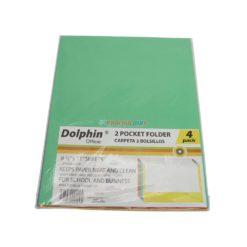 DOLPHIN 2 POCKET FOLDER 4pk